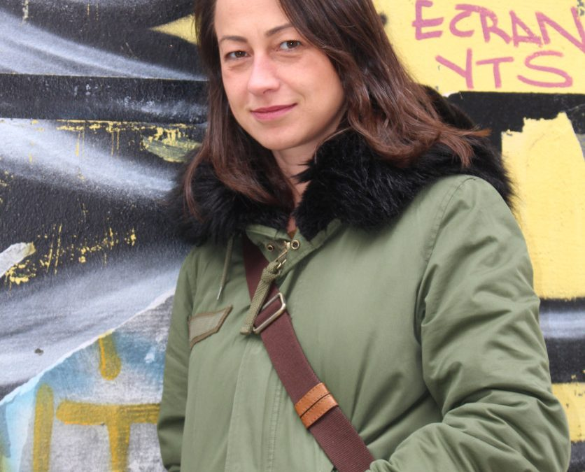 Sinef Gönül Arslan, dans la cour d'écran