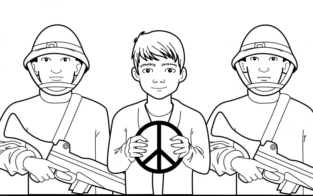 Le combat des pacifistes